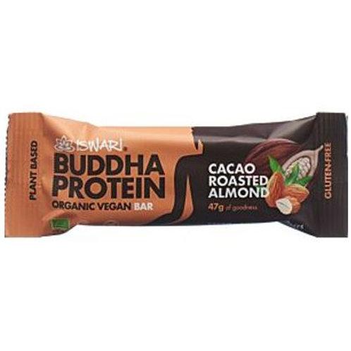 BUDDHA PROTEIN BAR CACAO ROASTED ALMOND GR 35 - Iswari