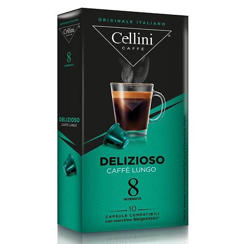 CAPSULE CAFFE' COMP. NESPRESSO DELIZIOSO (10 capsule) - Cellini