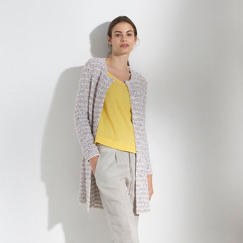 CARDIGAN LUNGO BOUCLE' - Anneclaire