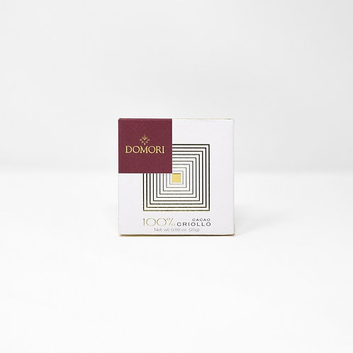 TAVOLETTA CIOCCOLATO FONDENTE 100% CRIOLLO gr25 -Domori