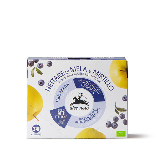 NETTARE DI MELA E MIRTILLO BIO 3X200ml - Alce nero