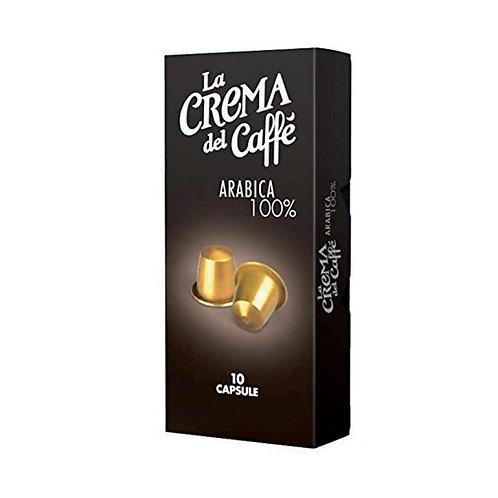 CIALDE COMPATIBILI NESPRESSO ARABICA 10 capsule - La Crema del Caffè