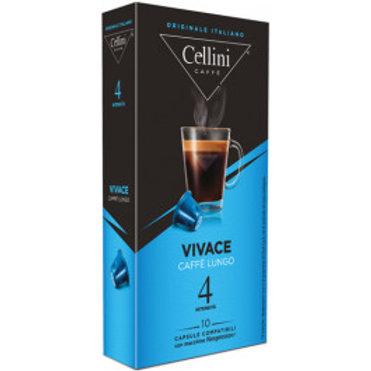 CAPSULE CAFFE' COMPATIBILI NESPRESSO - 10 capsule - VIVACE - Cellini