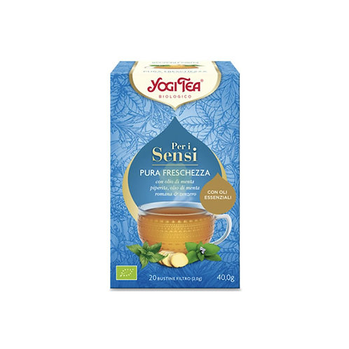 PURA FRESCHEZZA CON MENTA PIPERITA, MENTA ROMANA E ZENZERO GR 44 - Yogi Tea