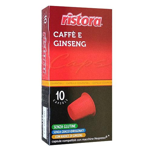 CAFFE' E GINSENG 10 CAPSULE COMPATIBILI NESPRESSO - Ristora
