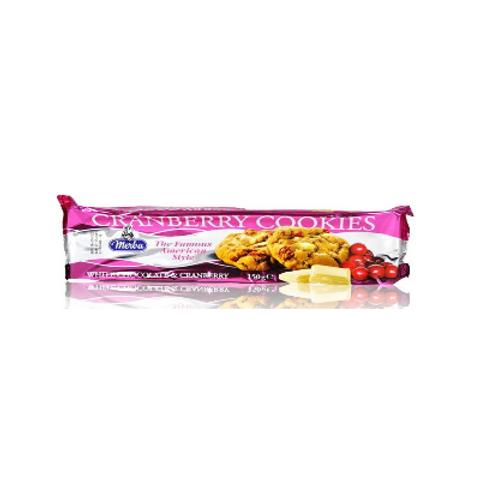 CRAMBERRY E WHITE CHOCOLATE COOKIES GR 150 - Merba