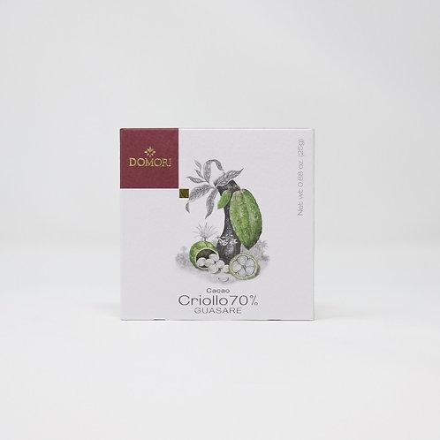 TAVOLETTA CIOCCOLATO FONDENTE 70%Criollo Guasare gr0,25 Limited Edition - Domori