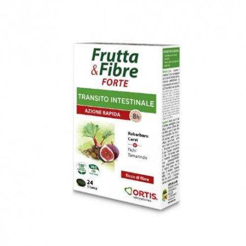 FRUTTA E FIBRE FORTE - TRANSITO INTESTINALE - 24 compresse - Ortis