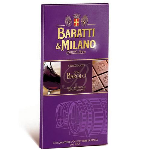 CIOCCOLATO CON BAROLO GR 75 -  Baratti & Milano