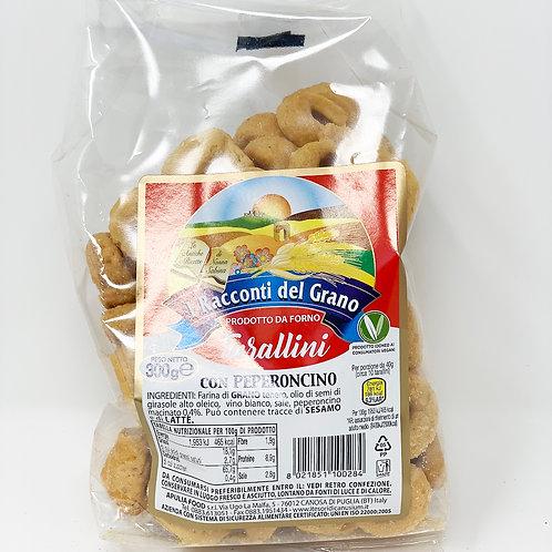 TARALLINI AL PEPERONCINO 300 gr - I Racconti del Grano