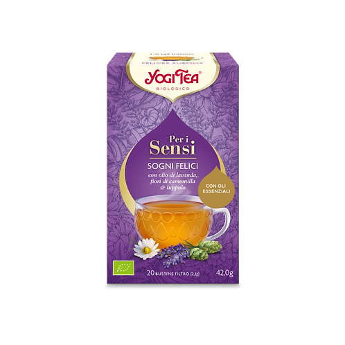 SOGNI FELICI CON LAVANDA, CAMOMILLA, LUPPOLO GR 44 - Yogi Tea
