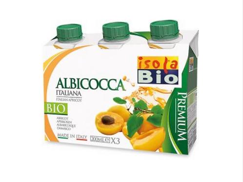 SUCCO DI FRUTTA ALBICOCCCA BIO 3X200 - Isola Bio