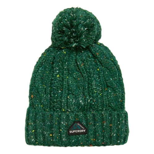 GRACIE CABLE BEANIE VERDE - Superdry