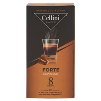 CAPSULE CAFFE' COMPATIBILI NESPRESSO - 10 capsule - FORTE - Cellini