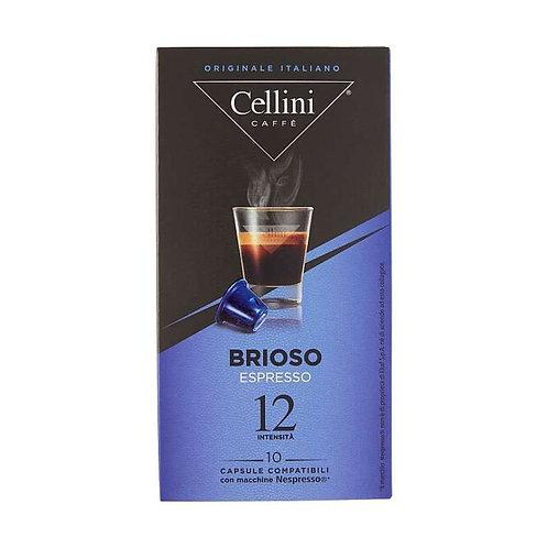 CAPSULE CAFFE' COMPATIBILI NESPRESSO - 10 capsule - BRIOSO - Cellini