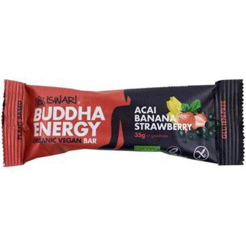 BUDDHA ENERGY BAR ACAI BANANA STRAWBERRY GR 35 - Iswari