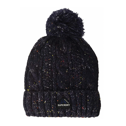 GRACIE CABLE BEANIE BLU - Superdry