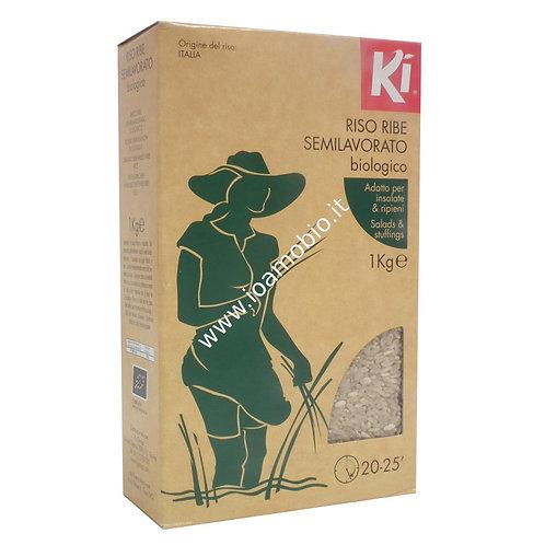 RISO RIBE SEMILAVORATO BIOLOGICO 1 Kg - Ki