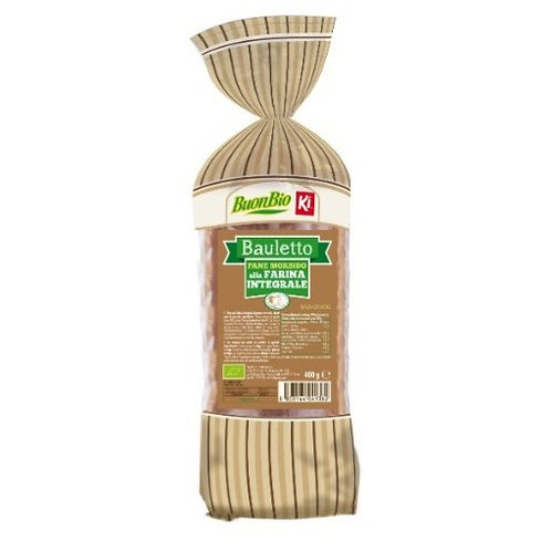PAN BAULETTO MORBIDO INTEGRALE BIO 400 gr - Ki