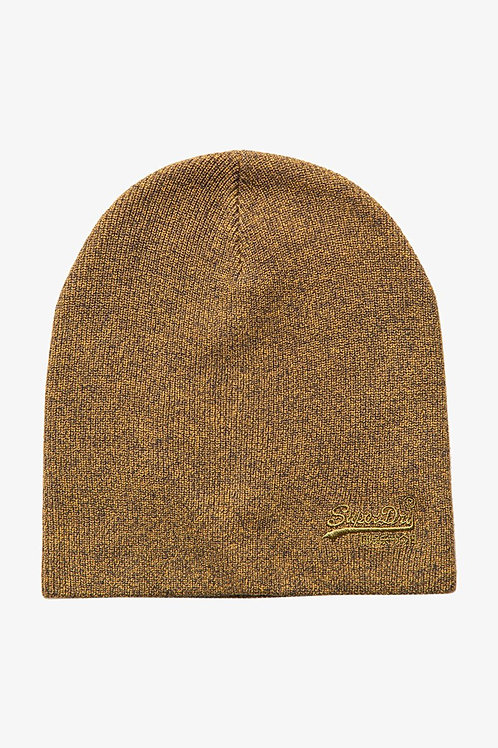LABEL BEANIE GOLD - Superdry