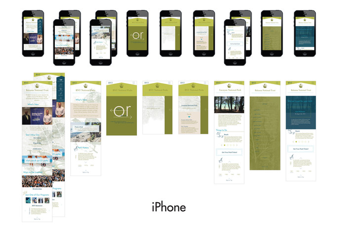website outline - iphone