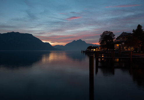 Late evening lake.