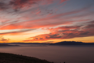 Sunset on a sea of clouds