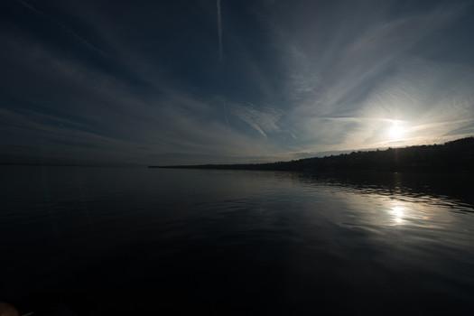 Morning on the lake Geneva