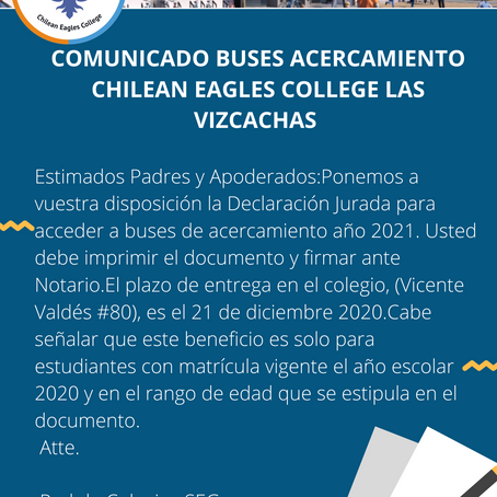 Información sobre buses de acercamiento