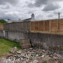 Fencing panel job completed