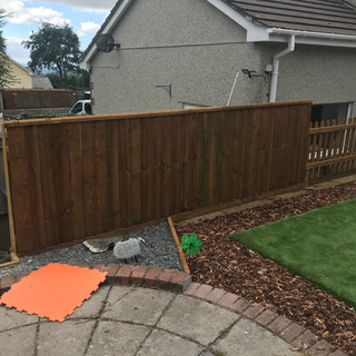 4ft feather-edge fencing