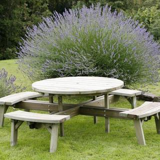 Large Circular Picnic Table
