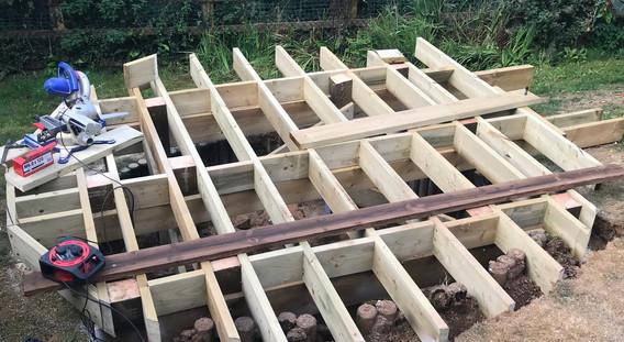 Round Decking frame work 2