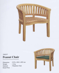 Teak Peanut single chair