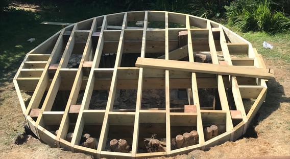 Round Decking frame work 3