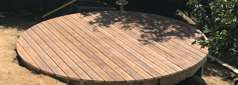 Round Decking almost completed