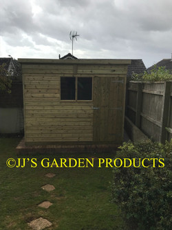 9ft x 7ft Pent shed with double windows