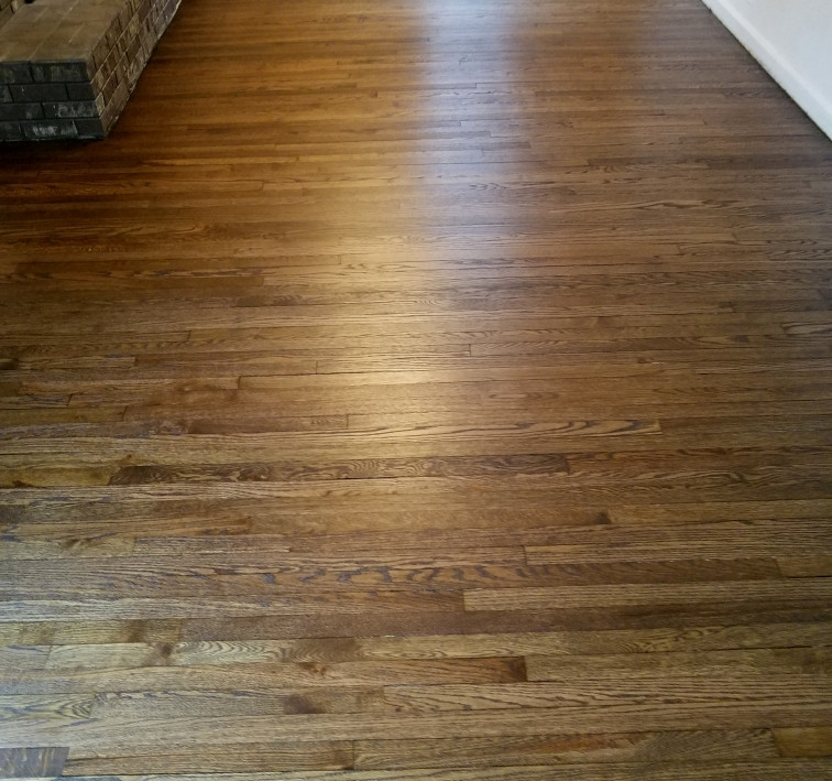 Repair, Sand & Refinsh Red Oak Floor