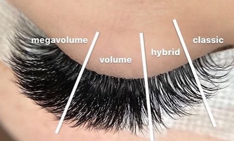 Classic and Hybrid Lash Extensions available at Nirvana