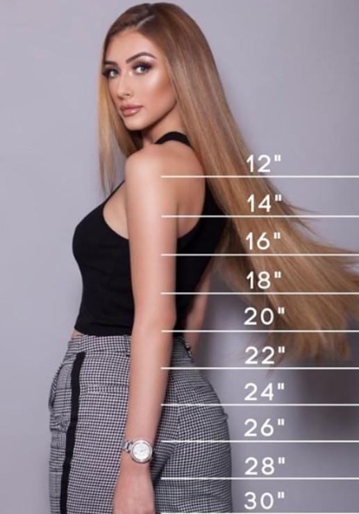 Hair Extension Lengths