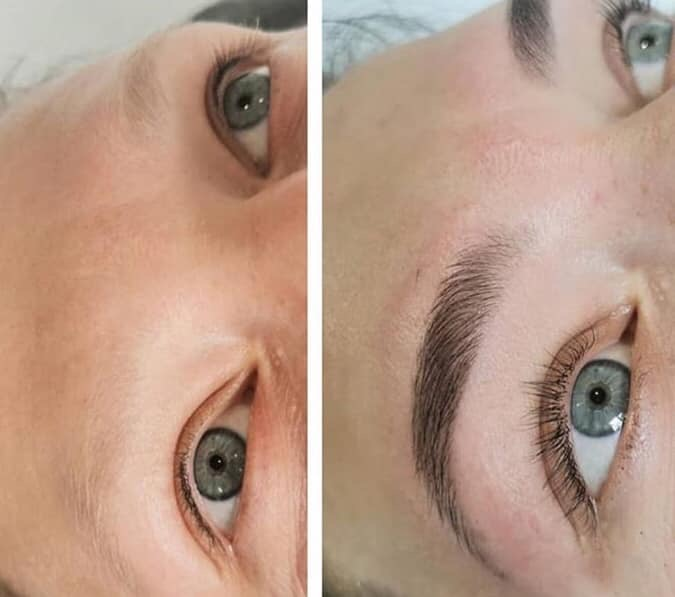 Highly Defined Henna Brows and Classic Lash Extensions