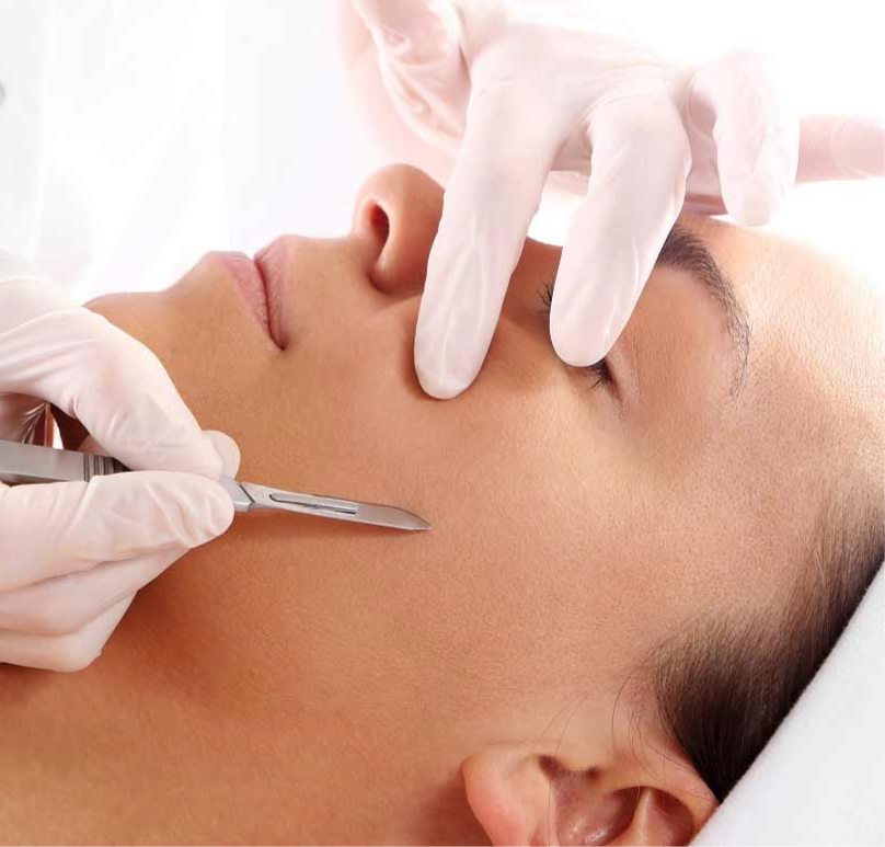 Dermaplaning - the ultimate exfoliation.