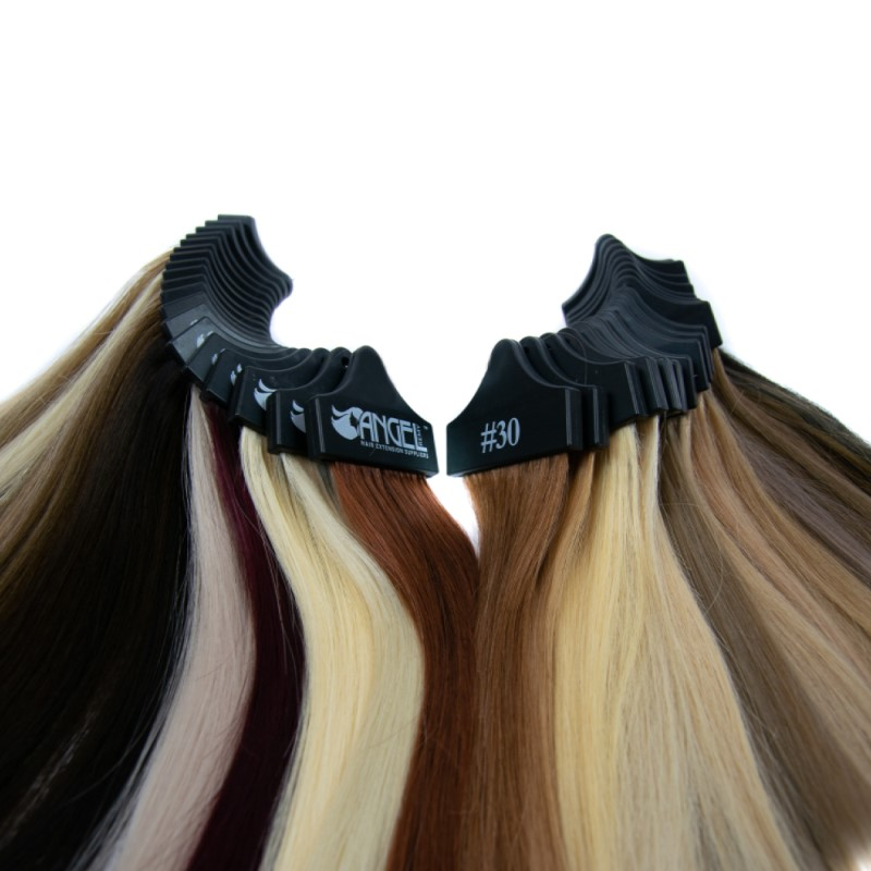 Hair extension colour match service, part of a free consultation.