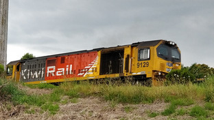 Kiwi Rail Freight Train at Matamata