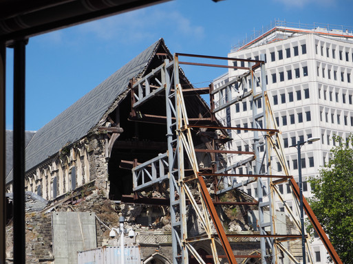 Christchurch Anglican Cathedral devastation after earthquake
