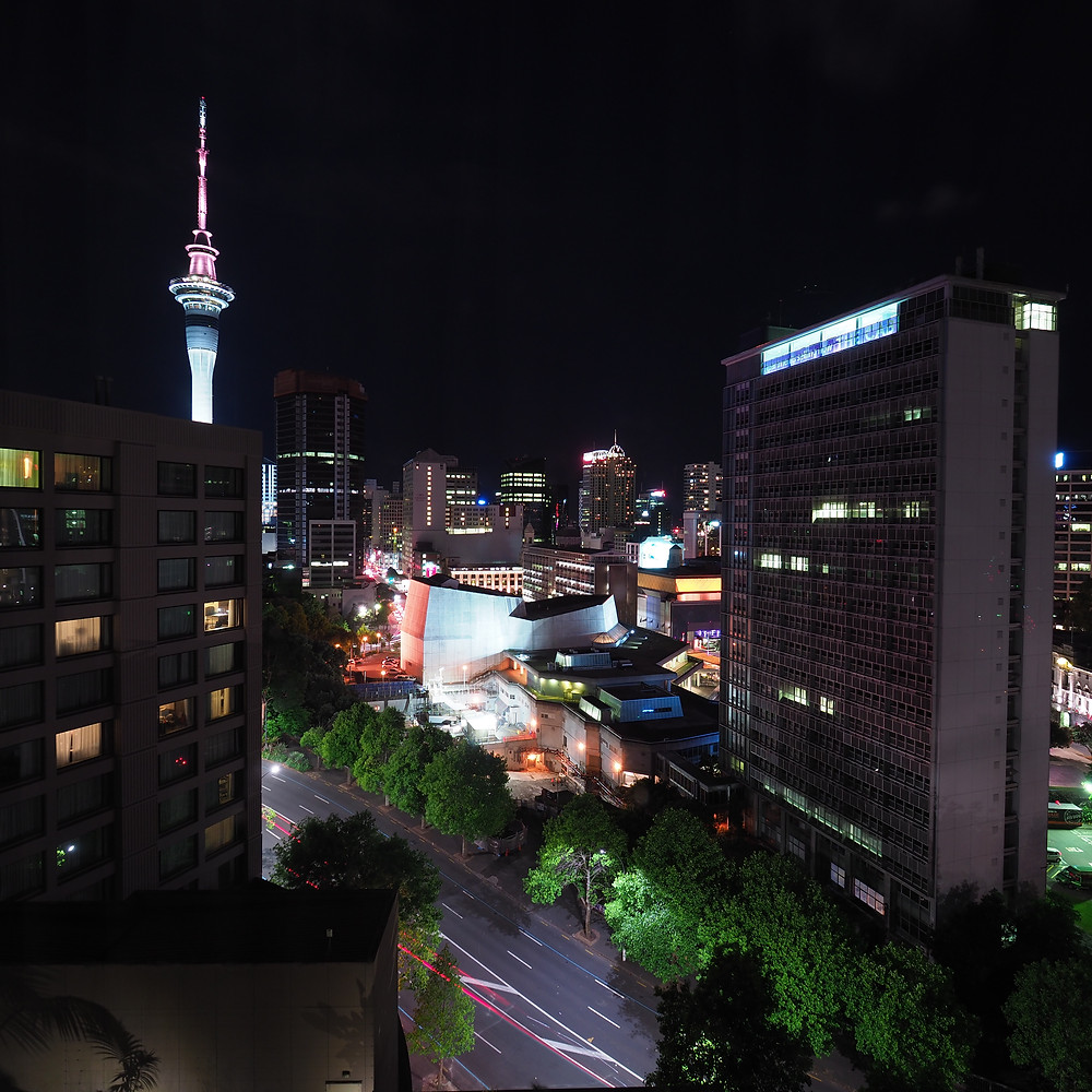 View of Sky Tower from Hotel