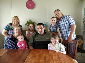 Gordon, Hope and her family and Anthea
