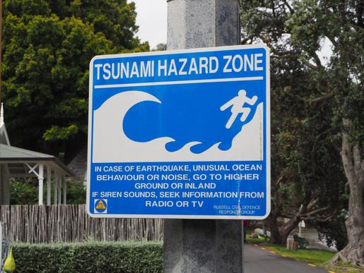 Tsunami Warning, Russell, Bay of Islands