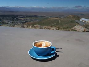 A coffee at Mount John Observatory