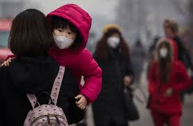 A mother protects her child. But with the urban smog, can she?